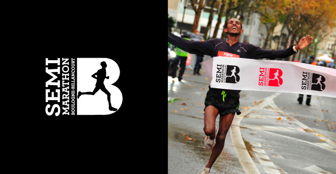Creation logotype Semi-Marathon Boulogne-Billancourt