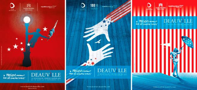 Affiche du Festival du Cinéma Americain de Deauville 2013 - 2012 - 2011