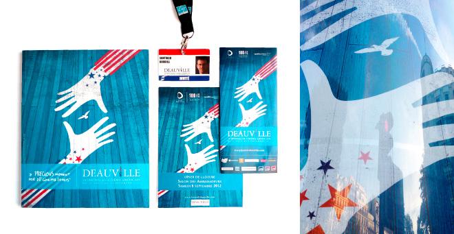 Création affiche 2012 du Festival du Cinéma Americain de Deauville - Catalogue