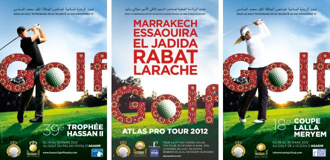 Affiches Trophée Hassan II Golf 2012