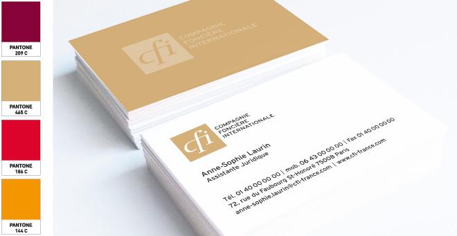 Carte de visite CFI - Compagnie Foncière Internationale
