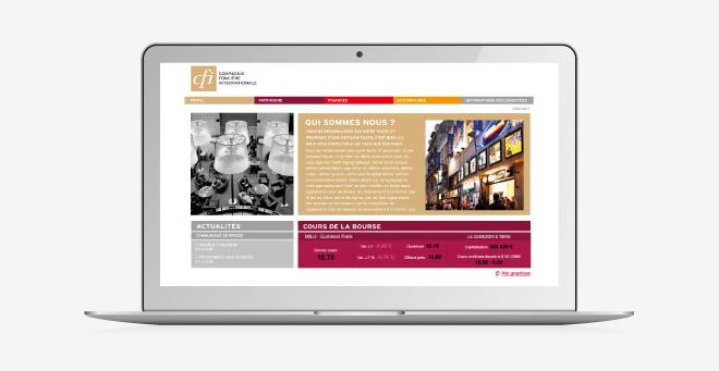 Site web CFI - Compagnie Foncière Internationale