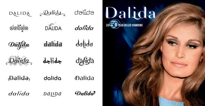 Album Dalida 50 plus belles chansons - logos