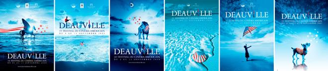Création affiches du Festival du Cinéma Americain de Deauville 2005 - 2010